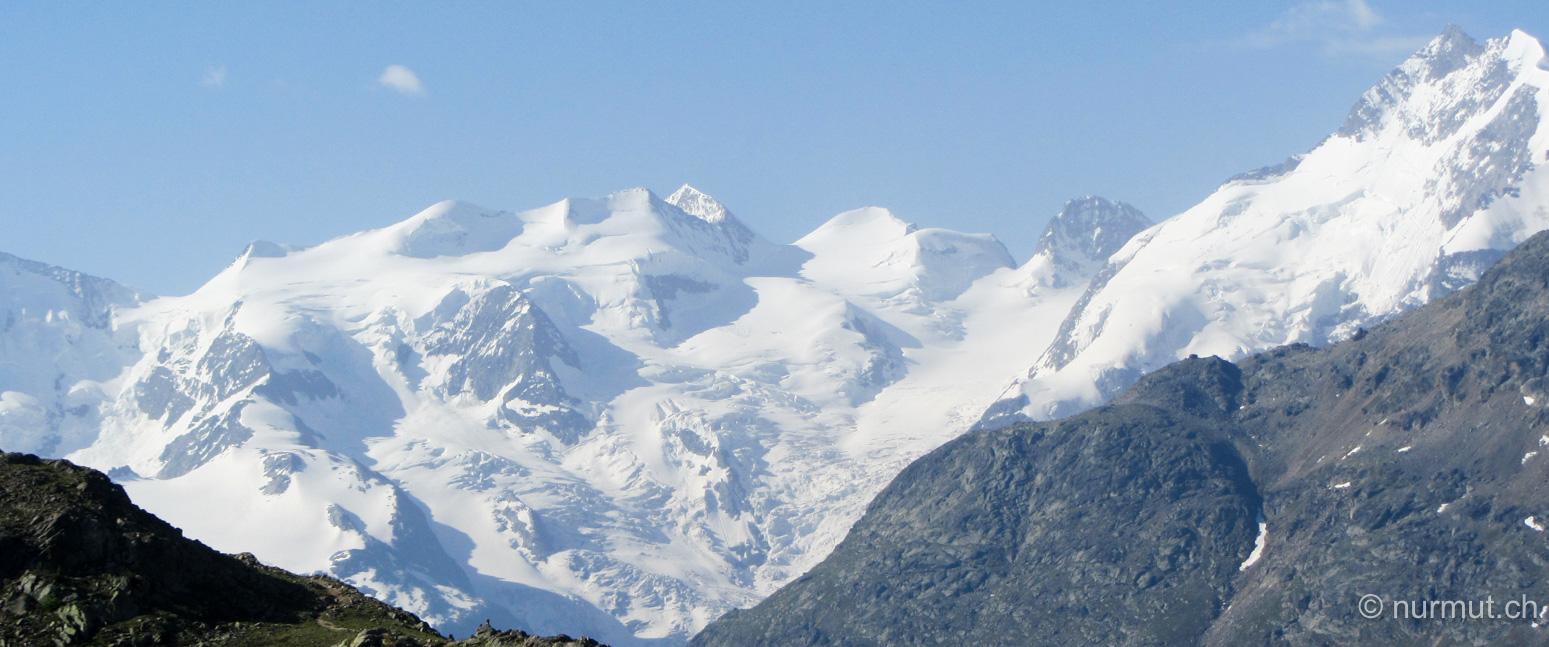 graubünden-piz palü-alpen-schneebedeckte gipfel-pontresina