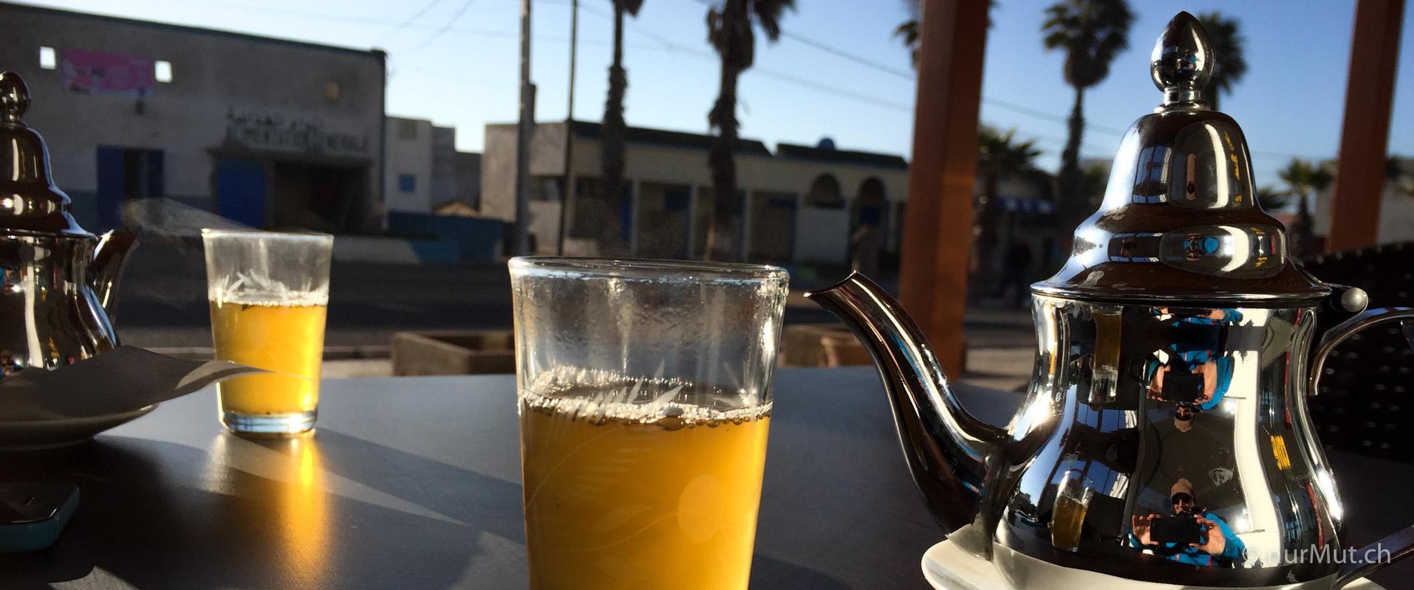 marokkanische Berber-Minztee-Tee-marokkanischer Tee