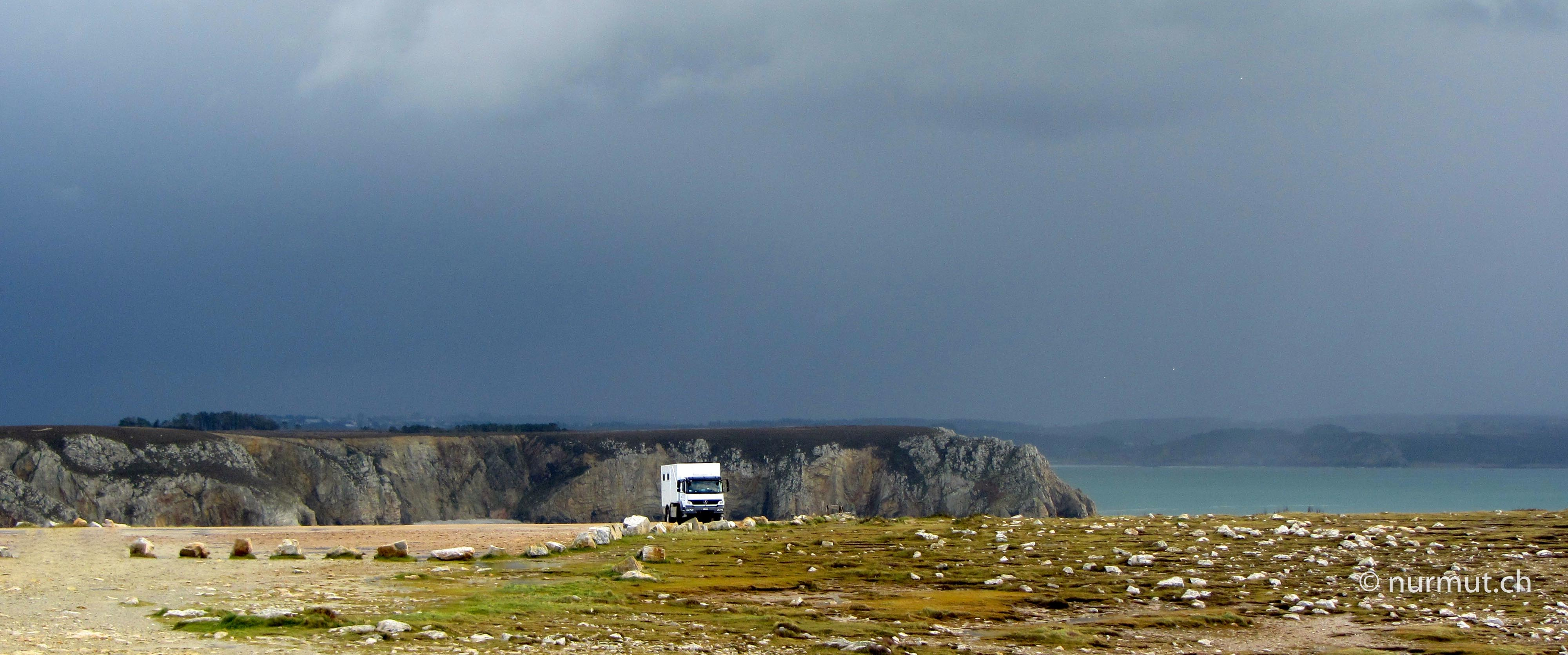 Bretagne-im-Winter-mit Wohnmobil-und-Hund-Expeditionsmobil-Crozon-Cameret-sur-Mer